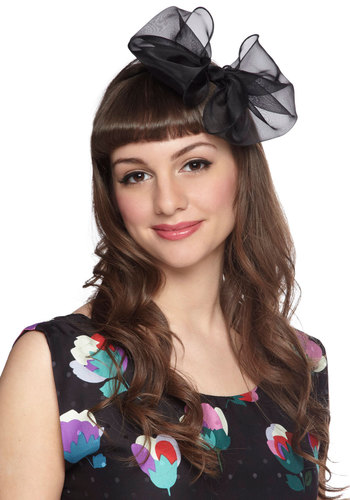 Real Bow-Getter Headband - Black, Solid, Bows, Formal, Fairytale, Summer, Boudoir, Statement