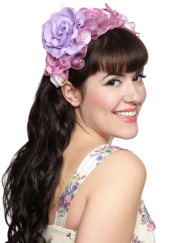 Feeling Festive Headband in Lilac - Purple, Flower, Wedding, Daytime Party, Statement, Fairytale, Variation