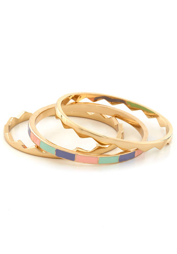 Take a Bite Out of Shine Bracelets - Multi, Gold, Solid, Pastel, Chevron, Summer