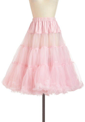 Va Va Voluminous Petticoat in Cotton Candy - Pink, Solid, Rockabilly, Pinup, Vintage Inspired, 50s, Statement, Mid-length, Sheer, Pastel, Variation, Knit, Valentine's, Best Seller, Best Seller, Wedding, Bridesmaid, Party, Top Rated