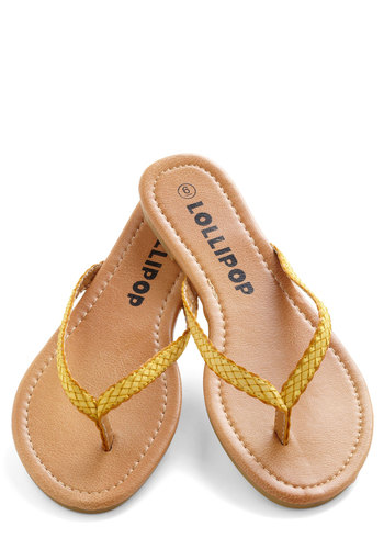Smoothie Stand Sandal in Banana - Yellow, Braided, Beach/Resort, Flat, Solid, Casual, Summer, Faux Leather, Travel