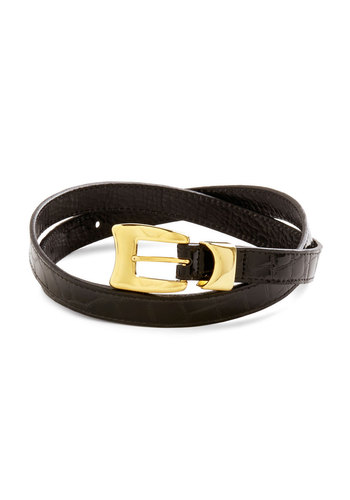 Posh Cycle Belt - Black, Gold, Solid, Leather, Work
