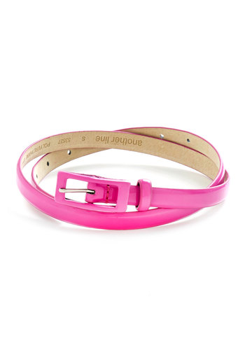 In Love with Lively Belt - Pink, Solid, Leather, Neon, Summer, Basic