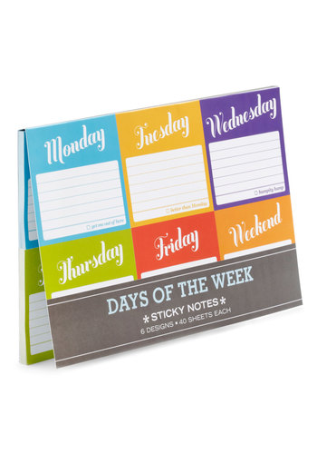 Favor of the Week Sticky Notes - Multi, Work, Dorm Decor, Handmade & DIY, Good