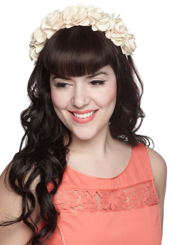 Take Me to the Trellis Headband - Cream, Solid, Flower, Fairytale, Statement, Daytime Party