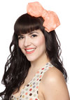 I Bow Where You Bow Headband - Coral, Solid, Bows, Party, Girls Night Out, Statement, Boudoir