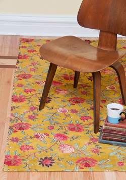 Floor-al Arrangement Rug in Chartreuse - 4x6