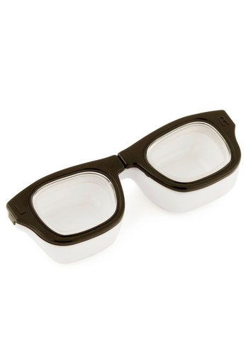 For Four Eyes Only Contact Case by Kikkerland - Black, White, Scholastic/Collegiate, Travel, Good