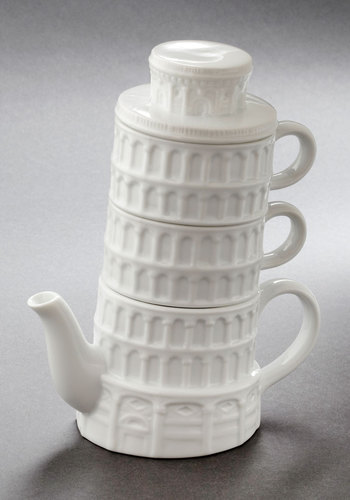 Pisa and Quiet Tea Set - White, Daytime Party, Better