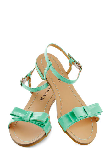Port Things Out Sandal in Seafoam