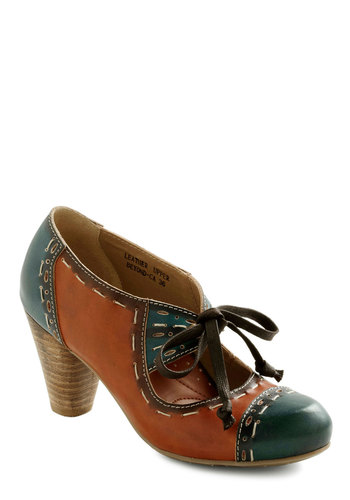 Docey Docent Heel - Blue, Brown, Casual, Fall, Steampunk, Scholastic/Collegiate, Leather, Lace Up, Mid