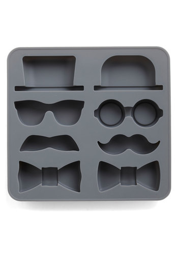 Sir Up Some Fun Ice Cube Tray by Kikkerland - Black, French / Victorian, Quirky, Summer, Good, Top Rated