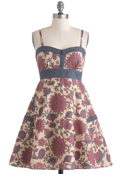 Flower Gathering Dress in City