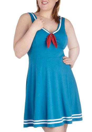 Embraceable Blue Dress in Plus Size