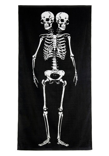 Biological Reasoning Bath Towel - Cotton, Black, White, Novelty Print, Quirky, Good, Halloween