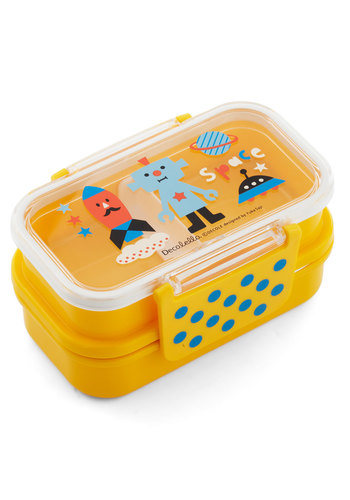 Destined for Deliciousness Bento Box by Japanese Gift Market - Yellow, Multi, Novelty Print, Kawaii, Eco-Friendly, Travel