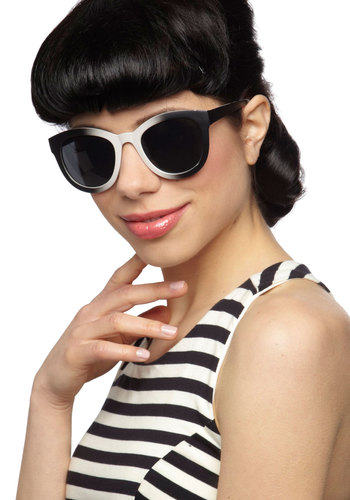 Fade You Look Sunglasses - Black, Grey, Vintage Inspired, Summer, Beach/Resort