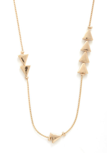 Thrice as Nice Necklace - Gold, Studs, Casual, Urban, 20s