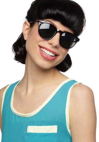 What's Goin' Onyx Sunglasses - Black, International Designer, Solid, Vintage Inspired, Summer, Beach/Resort