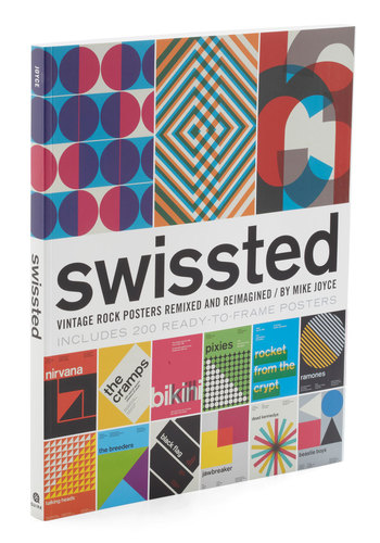 Swissted Poster Book - Multi, Vintage Inspired, 70s, 80s, 90s, Music