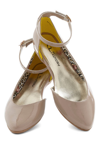 Sweet Soiree Flat in Almond - Tan, Solid, Flat, Casual, Daytime Party, Minimal, Variation