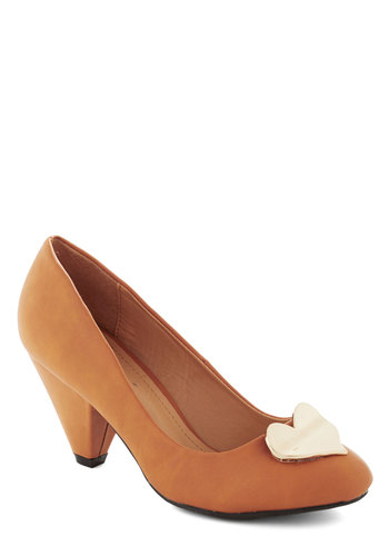 Heart for the Hills Heel in Curry - Mid, Faux Leather, Tan, Solid, Work, Variation, Winter