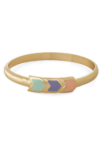 The Path You're Chevron Bracelet - Gold, Pastel, Chevron, Multi, Purple, Pink, Mint