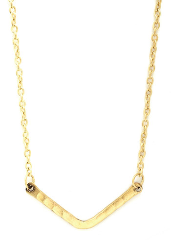 You Boomerang? Necklace in Gold - Gold, Solid, Minimal, Boho, Gold