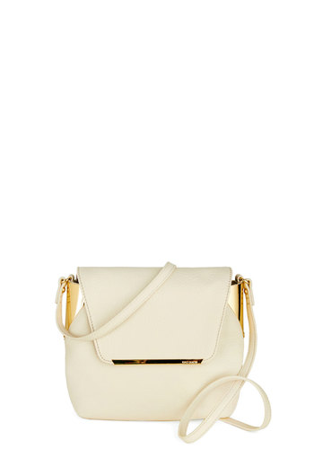 Perfectly Polished Bag - White, Solid, Leather, Vintage Inspired