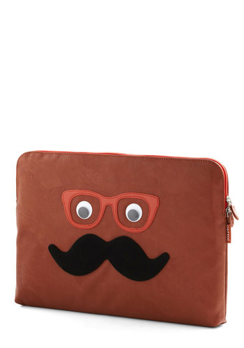 "Handlebar With Care Laptop Sleeve - 15"" - Orange, Black, White, Travel, Quirky, Brown, Kawaii, Scholastic/Collegiate"