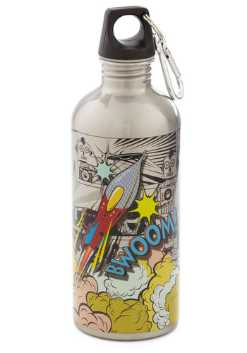 Thirst Edition Water Bottle - Silver, Multi, Eco-Friendly, Travel, Good