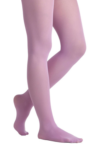 Look Lively Tights in Lilac - Purple, Solid, International Designer, Pastel, Variation