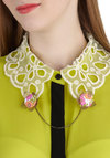 Hooked on Appealing Pin - Pink, Multi, Floral, Chain, Statement, Gold, Flower, Vintage Inspired