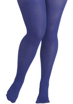 Seize the Day Tights in Cobalt - Plus Size