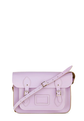 "Cambridge Satchel Upwardly Mobile Satchel in Lilac - 13"" by The Cambridge Satchel Company  - Purple, Solid, Pastel, Scholastic/Collegiate, International Designer, Leather, Graduation, Work"