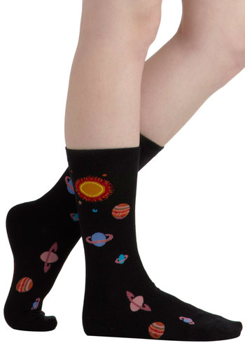 Personal Space Socks - Black, Multi, Print, Quirky, Scholastic/Collegiate