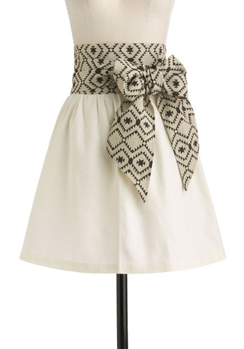 Key Ingredient Apron - Black, Cream, Tan / Cream, Print, Better