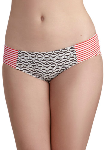 Pattern It Up Swimsuit Bottom by Seea - Multi, Red, Black, White, Print, Beach/Resort, Summer