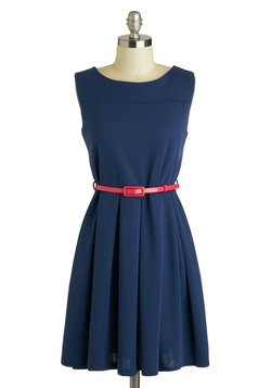 'Tis a Shift to Be Simple Dress in Navy