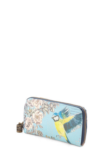 Got to Get Flying Wallet by Disaster Designs - International Designer, Blue, Multi, Print with Animals, Faux Leather