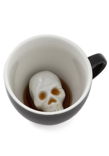Will's Presentation Skulls Mug - Black, White, Quirky, Good, Halloween