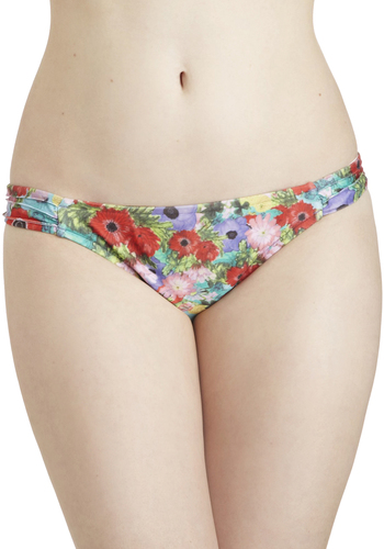 Poppy Rock Swimsuit Bottom by Mink Pink - Multi, Floral, Summer, International Designer, Beach/Resort, Spaghetti Straps, Red, Green, Blue, Purple
