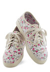 Floral the Better Sneaker - Multi, Floral, Flat, Lace Up, Cotton, Casual, Vintage Inspired, 90s, Eco-Friendly, Travel
