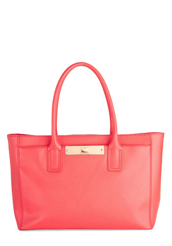 Hibiscus Tea Time Bag - Pink, Solid, Work, Luxe, Leather