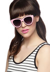 All-Day Disco Sunglasses by Quay - Black, Luxe, Statement, International Designer, Pink, Silver, Solid, Rockabilly, Pinup, Vintage Inspired, 50s, Summer