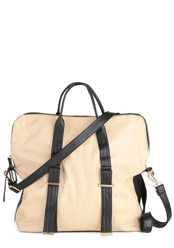 Nonstop Appeal Bag - Tan, Brown, Solid, Faux Leather, Work, Travel