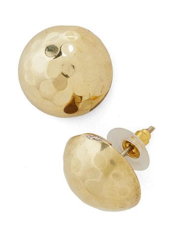 Hammer It Home Earrings - Gold, Solid