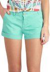 Pros and Zircon Shorts - Mint, Solid, Pockets, Casual, Beach/Resort, Summer, Pastel