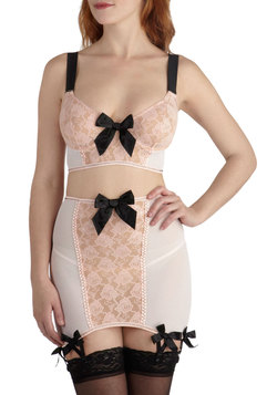 Feels Like Dreaming Bra and Garter Skirt Set