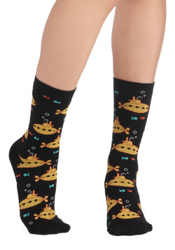 Wearable Whimsy Socks in Submarines